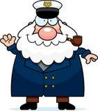 Cartoon Sea Captain Waving Royalty Free Stock Photography
