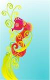Cartoon sea fad, vector illustration. Abstract background, sea fad in seaweed, vector illustration Royalty Free Stock Photo