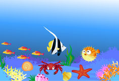 Cartoon sea life Royalty Free Stock Photography
