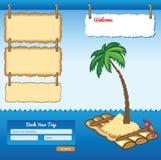 Cartoon Sea Travel Template Stock Photo