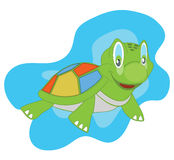 Cartoon Sea Turtle. Illustration of a cartoon sea turtle Stock Photo