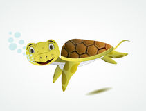 Cartoon sea turtle Stock Image