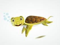 Cartoon sea turtle Stock Image