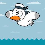 Cartoon Seagull. Seagull Flying. Funny Cute Seagull/ Illustration of a cartoon funny seagull vector illustration