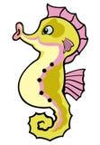 Cartoon seahorse Stock Image