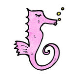 Cartoon seahorse Royalty Free Stock Image