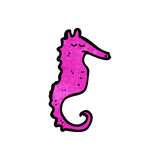 Cartoon seahorse Royalty Free Stock Photos