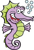Cartoon seahorse Stock Photos