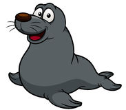 Cartoon seal Stock Images