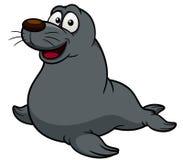 Cartoon seal Stock Images