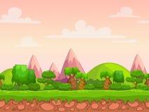 Cartoon seamless nature landscape Royalty Free Stock Photo