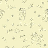 Cartoon seamless pattern Royalty Free Stock Image