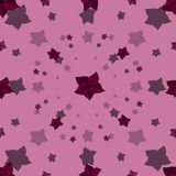 Cartoon seamless pattern with blossoms Stock Image