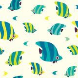 Seamless pattern with butterfly fish. Royalty Free Stock Image