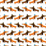 Cartoon seamless pattern for childish designs. Stock Image