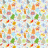 Cartoon seamless pattern. Stock Images