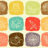 Cartoon seamless pattern for cute wallpapers Royalty Free Stock Image