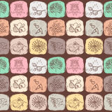 Cartoon seamless pattern for cute wallpapers Stock Images