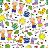 Cartoon seamless pattern Stock Photos