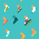 Cartoon seamless pattern, endless background with shoes Royalty Free Stock Photography