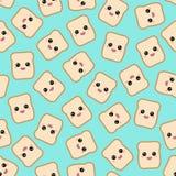 Cartoon toasts. Vector. Cartoon seamless pattern with funny toasts Royalty Free Stock Photos
