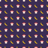 Cartoon seamless pattern with monkey. Cartoon seamless pattern with monkey royalty free illustration