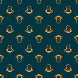 Cartoon seamless pattern with monkey. Cartoon seamless pattern with monkey vector illustration