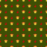 Cartoon seamless pattern with monkey. Cartoon seamless pattern with monkey stock illustration