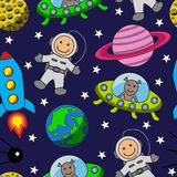 Cartoon seamless space Royalty Free Stock Photography