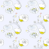 Cartoon seamless wallpaper Royalty Free Stock Photography
