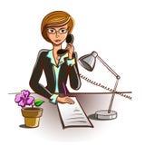 Cartoon Secretary Stock Photo