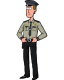 Cartoon security guard Royalty Free Stock Photos