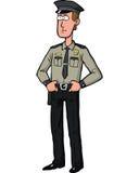 Cartoon security guard Royalty Free Stock Photos