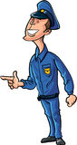 Cartoon security guard. Royalty Free Stock Photography
