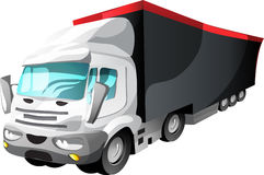 Cartoon Semi Trailer Royalty Free Stock Image