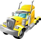 Cartoon semi truck. Semi truck in cartoon style as a illustration Royalty Free Stock Photography