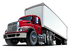 Cartoon semi truck Royalty Free Stock Photography
