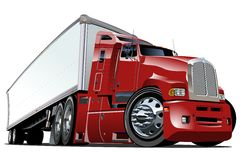 Cartoon semi truck Royalty Free Stock Images