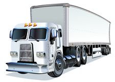 Cartoon Semi Truck Stock Image