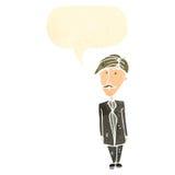 Cartoon sensible man with speech bubble Royalty Free Stock Photo