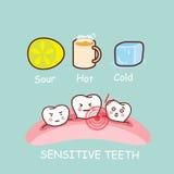Cartoon sensitivity tooth  Stock Images