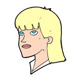 Cartoon serious woman Stock Images