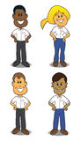 Cartoon Service People Stock Photo
