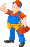 Cartoon serviceman Stock Photography