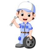 Cartoon serviceman Stock Photos