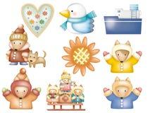 Cartoon set 003 Royalty Free Stock Photos