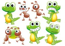 Cartoon set 077 Royalty Free Stock Images