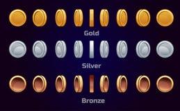 Cartoon set animation coins Royalty Free Stock Photo