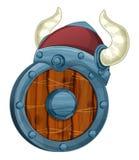 Cartoon set of armor elements shield and helmet Stock Photography