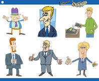 Cartoon set of businessmen Royalty Free Stock Images